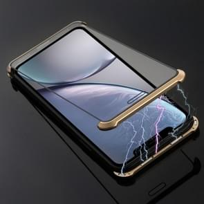 Ultra-Thin Angular Frame Magnetic Absorption Double-Sided Tempered Glass Shell for iPhone XR(Gold)