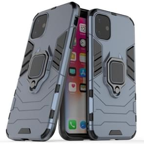 Panther PC + TPU Shockproof Protective Case with Magnetic Ring Holder for iPhone 11(Grey)