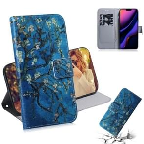 3D Colored Drawing Horizontal Flip Leather Case, with Holder & Card Slot & Wallet For iPhone 11(Apricot Flower)