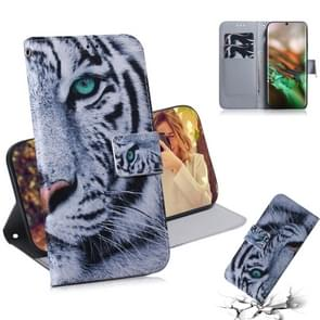 3D Colored Drawing Horizontal Flip Leather Case, with Holder & Card Slot & Wallet For Galaxy Note 10(Tiger)