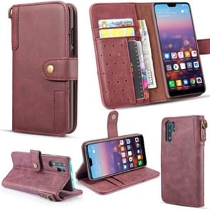 Vintage Cowhide Sling Texture Horizontal Flip Leather Case with Card Slots & Wallet & Holder for Galaxy Note 10+(Red)