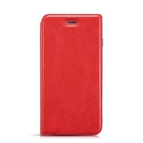 Retro Simple Ultra-thin Magnetic Leather Case with Holder & Card Slots & Lanyard for iPhone 11(Red)