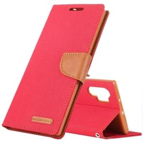 MERCURY GOOSPERY JELLY Canvas Texture Horizontal Flip Leather Case with Card Slots & Wallet & Holder for Galaxy Note 10+(Red)