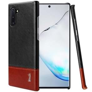 IMAK Ruiyi Series Concise Slim PU + PC Protective Case For Galaxy Note 10(Black+Brown)