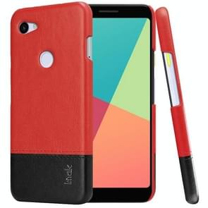 IMAK Ruiyi Series Concise Slim PU + PC Protective Case For Google Pixel 3a(Black+Red)