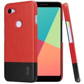 IMAK Ruiyi Series Concise Slim PU + PC Protective Case For Google Pixel 3a XL(Black+Red)