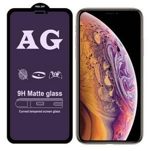 AG matte anti blauw licht volledige dekking gehard glas voor iPhone XS Max