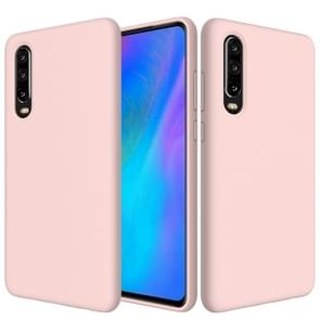 Solid Color Liquid Silicone Dropproof Protective Case for Huawei P30(Pink)