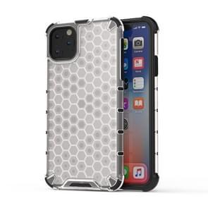 Schokbestendige honingraat PC + TPU Case voor iPhone XI Max 2019 (transparant)