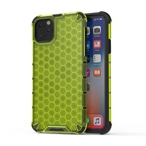 Shockproof Honeycomb PC + TPU Case for iPhone XI Max  2019(Green)