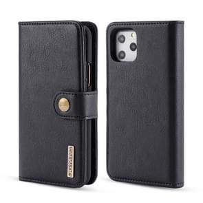 DG.MING Crazy Horse Texture Flip Detachable Magnetic Leather Case with Holder & Card Slots & Wallet for iPhone 11 Pro(Black)