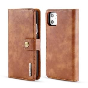 DG.MING Crazy Horse Texture Flip Detachable Magnetic Leather Case with Holder & Card Slots & Wallet for iPhone XIR 2019(Brown)
