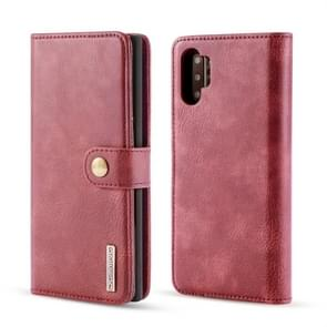 DG.MING Crazy Horse Texture Flip Detachable Magnetic Leather Case with Holder & Card Slots & Wallet for Galaxy Note 10(Red)