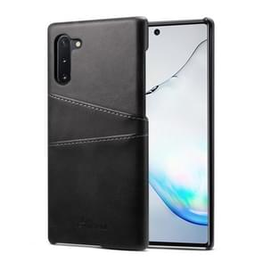 Suteni Calf Texture Back Cover Protective Case with Card Slots for Galaxy Note 10(Black)