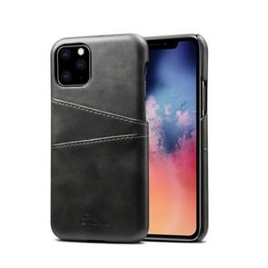 Suteni Calf Texture Back Cover Protective Case with Card Slots for iPhone 11(Black)