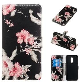 Colored Drawing Marble Pattern Horizontal Flip PU Leather Case with Holder & Card Slots & Wallet For OnePlus 7(Azalea)