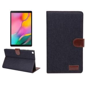 Dibase denim textuur horizontale Flip PC + PU lederen draagtas met houder & kaartsleuven & slaap/Wake-up functie voor Galaxy tab A 8 0 inch (2019)/T290/T295 (zwart)