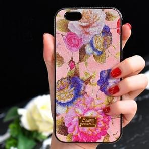 TPU + Epoxy Flowers Series Phone Protective Case with Crystalline Chain for iPhone XS / X(Pink)