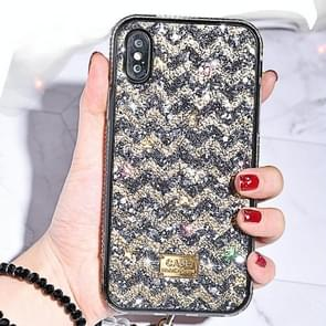 TPU + Epoxy Ripples Series Phone Protective Case for iPhone XS Max(Gold)