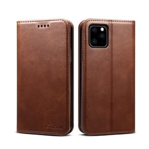 Suteni Calf Texture Horizontal Flip Leather Case with Holder & Card Slots & Wallet for iPhone 11(Brown)