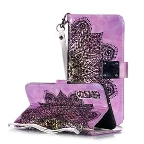 Magic 3D Bright Coloured Drawing Pattern Horizontal Flip PU Leather Case with Holder & Card Slots & Wallet & Photo Frame for Huawei P30(Half Mandala)