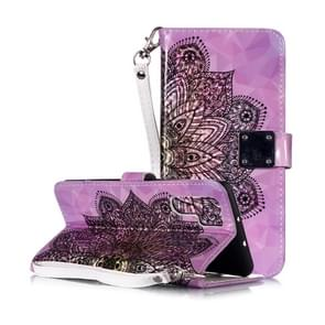 Magic 3D Bright Coloured Drawing Pattern Horizontal Flip PU Leather Case with Holder & Card Slots & Wallet & Photo Frame for Huawei P30 Pro(Half Mandala)