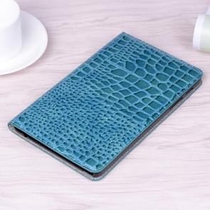 Krokodil textuur horizontale Flip lederen draagtas met houder & kaartsleuven & portemonnee voor Galaxy tab A 8 0 (2019) (blauw)