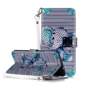 Magic 3D Bright Coloured Drawing Pattern Horizontal Flip PU Leather Case with Holder & Card Slots & Wallet & Photo Frame for OnePlus 7(Big Ears Elephant)