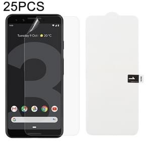25 PCS Soft Hydrogel Film Full Cover Front Protector with Alcohol Cotton + Scratch Card for Google Pixel 3