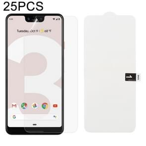 25 PCS Soft Hydrogel Film Full Cover Front Protector with Alcohol Cotton + Scratch Card for Google Pixel 3 XL