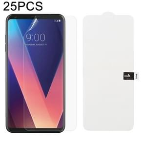 25 PCS Soft Hydrogel Film Full Cover Front Protector with Alcohol Cotton + Scratch Card for LG V30 Plus