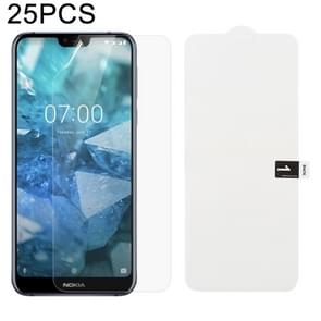 25 PCS Soft Hydrogel Film Full Cover Front Protector with Alcohol Cotton + Scratch Card for Nokia 7.1