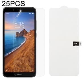 25 stuks zachte hydrogel film volledige dekking front beschermer met alcohol katoen + kraskaart voor Xiaomi Redmi 7A