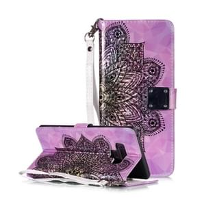 Magic 3D Bright Coloured Drawing Pattern Horizontal Flip PU Leather Case with Holder & Card Slots & Wallet & Photo Frame for Galaxy Note 9(Half Mandala)