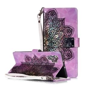 Magic 3D Bright Coloured Drawing Pattern Horizontal Flip PU Leather Case with Holder & Card Slots & Wallet & Photo Frame for Galaxy Note 10+(Half Mandala)
