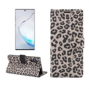 Leopard Pattern Horizontal Flip Leather Case with Holder & Card Slots for Galaxy Note 10(Yellow)