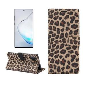 Leopard Pattern Horizontal Flip Leather Case with Holder & Card Slots for Galaxy Note 10+(Brown)