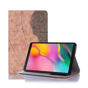 Cartografische textuur horizontale Flip lederen draagtas met houder & card slots & Wallet voor Galaxy tab A 8 0 (2019) (oranje)