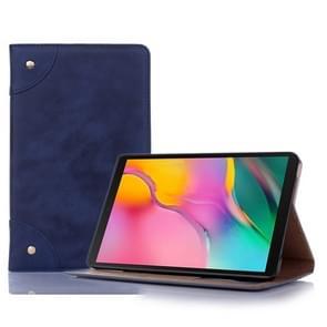 Retro boek stijl horizontale Flip lederen draagtas met houder & kaartsleuven & portemonnee voor Galaxy tab A 8 0 (2019) (donkerblauw)