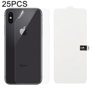25 PCS Soft Hydrogel Film Full Cover Back Protector with Alcohol Cotton + Scratch Card for iPhone X