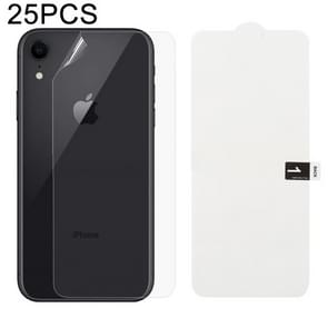 25 PCS Soft Hydrogel Film Full Cover Back Protector with Alcohol Cotton + Scratch Card for iPhone XR