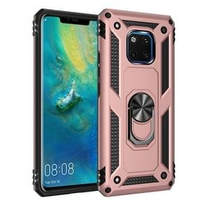 Armor Shockproof TPU + PC Protective Case with 360 Degree Rotation Holder for Huawei Mate 20 Pro(Rose Gold)
