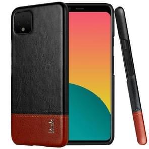 IMAK Ruiyi Series Concise Slim PU + PC Protective Case For Google Pixel 4XL(Black+Brown)