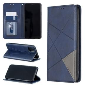 Rhombus textuur horizontale Flip magnetische lederen draagtas met houder & card slots & Wallet voor iPhone XI Max 2019 (blauw)