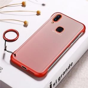 Frosted Anti-skidding TPU Protective Case with Metal Ring for Vivo X21(Red)