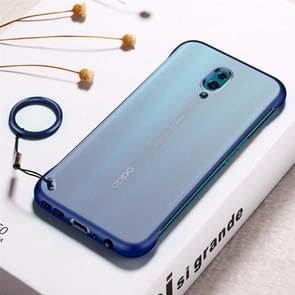 Frosted Anti-skidding TPU Protective Case with Metal Ring for OPPO Reno(Blue)