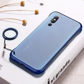 Frosted Anti-skidding TPU Protective Case with Metal Ring for Vivo X27(Blue)