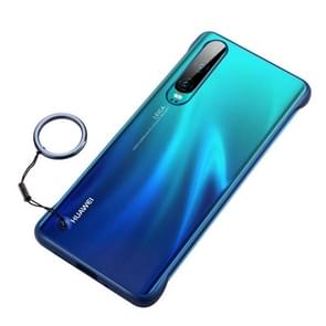 Frosted Anti-skidding TPU Protective Case with Metal Ring for Huawei P30(Blue)