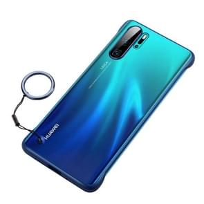 Frosted Anti-skidding TPU Protective Case with Metal Ring for Huawei P30 Pro(Blue)