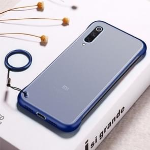 Frosted Anti-skidding TPU Protective Case with Metal Ring for Xiaomi Mi 9(Blue)